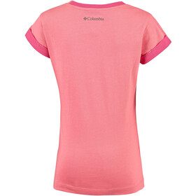 Columbia Lost Trail T-shirt Meisjes, hot coral